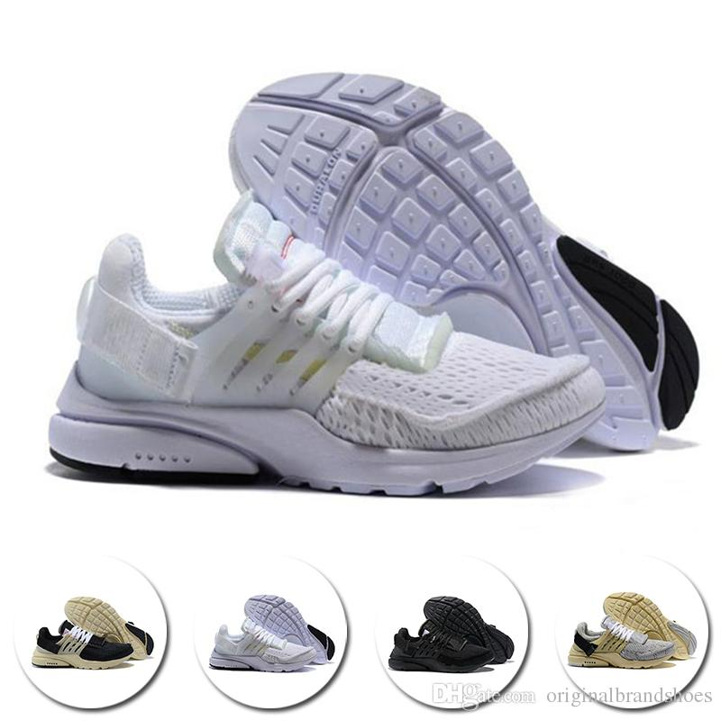 c9fa8ea4b68 2018 2018 Top Presto Running Shoes Air Cushion BR QS Breathe White Black  Ultra Cheap Prestos Sports Trainer Casual Designer Sneakers Size 36 45 From  ...