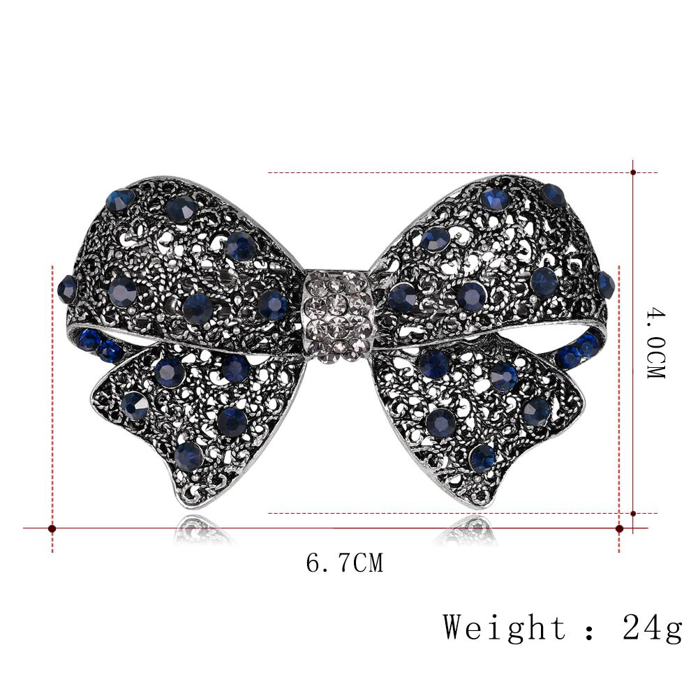 danbihuabi New Vintage Hair Pins with Rhinestone Butterfly&Bowknot for Women Hair Clips Wedding Hair Accessories for Wedding