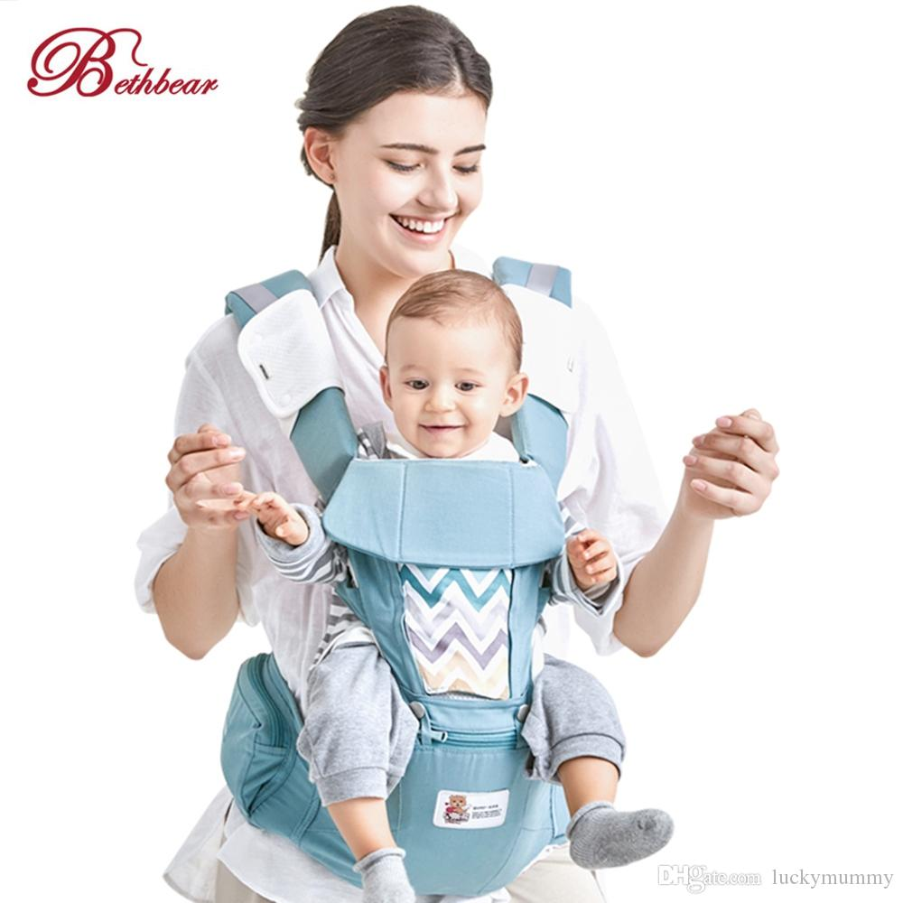 7009111664b Bethbear Hipseat Newborn 3 in 1 Ergonomic Baby Carrier Kid Sling ...