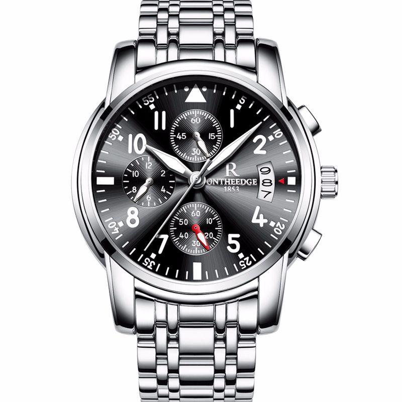 e759598417b0f7 Zegarki Meskie New Luxury Brand Watch Men Fashion Business Calendar  Luminous Watches Stainless Steel Waterproof Quartz Watch Hot Quartz Watches  Cheap Quartz ...