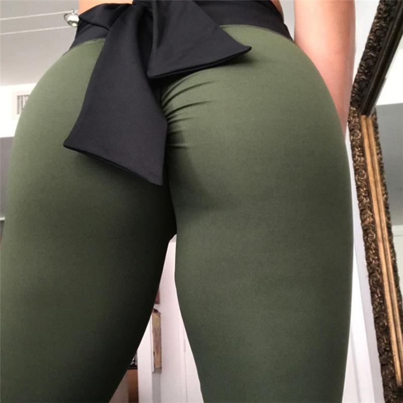 d90180757aef2c 2019 New Women Sexy Skinny High Waist Legging Push Up Sexy Bow Hip Solid  Trousers For Fashion Elastic Women Leggings Online with $38.17/Piece on ...