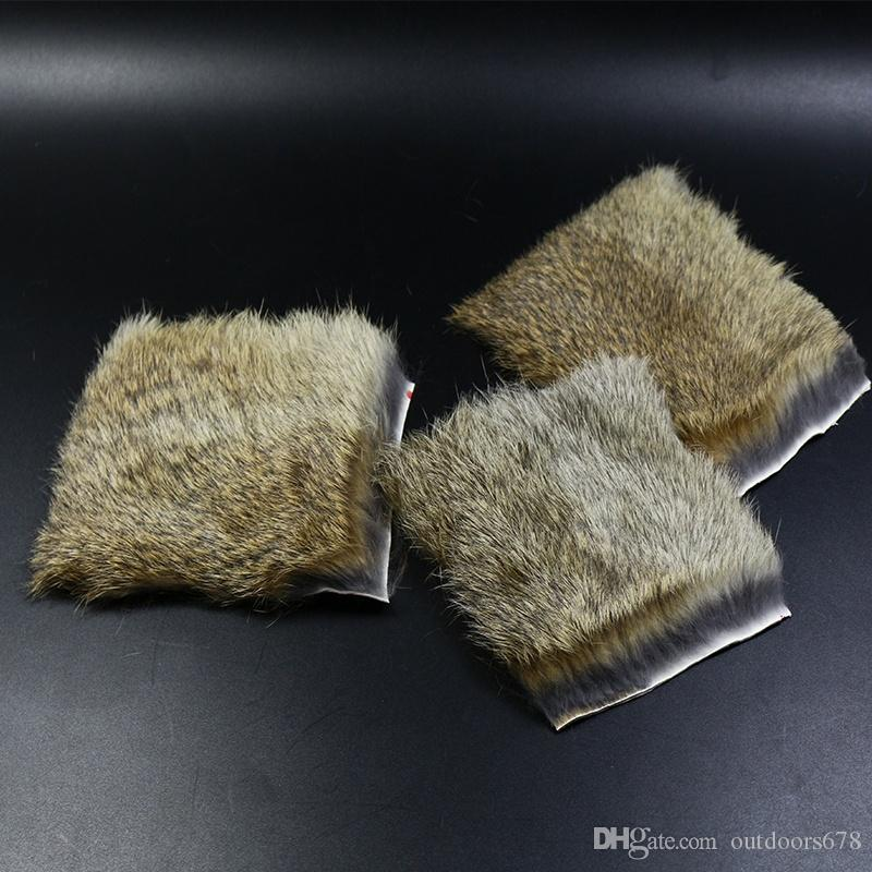 Fishing Emerger Fly Patterns Craft Skin Hide Hair Fly Tying Material Natural Coney Genuine Rabbit Fur for DIY Lure Artificial Pesca