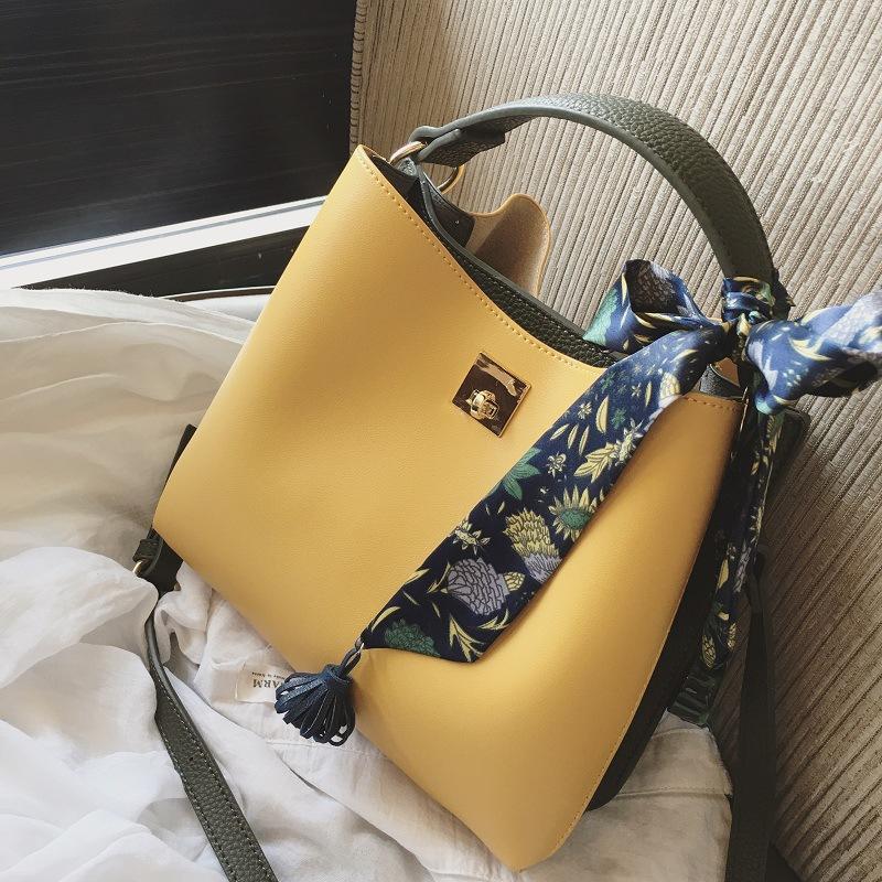 8f6580f102 Women Messenger Bag Ribbons Crossbody Bag PU Leather Shoulder Bags ...