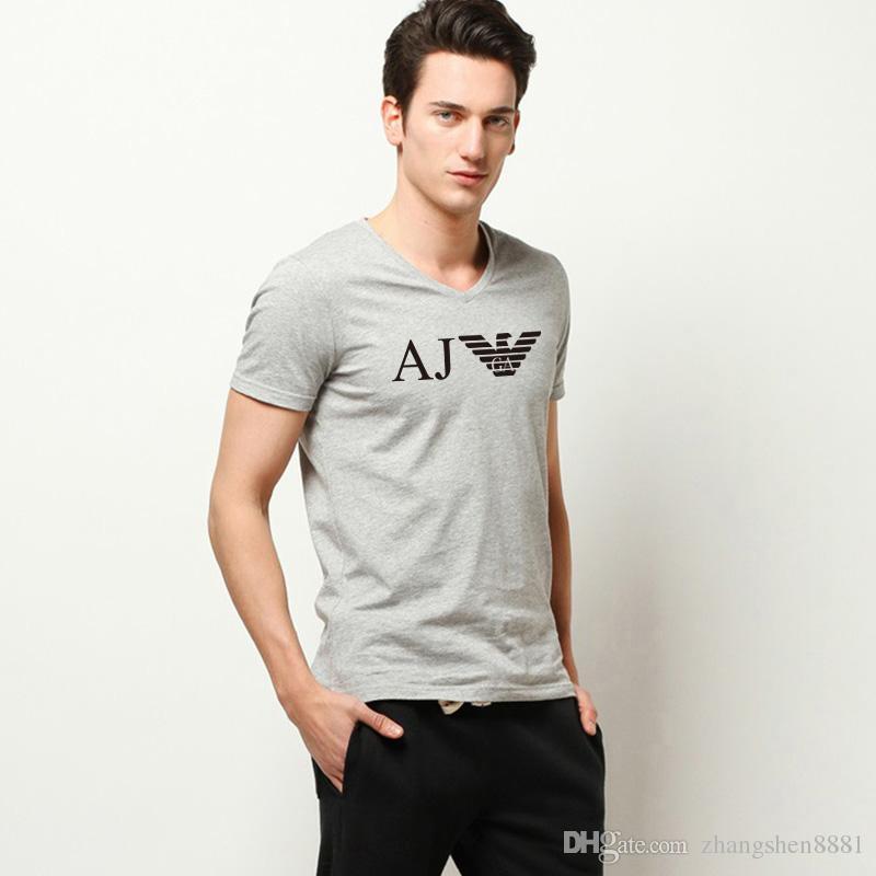 2018 Moda Hombre Camisetas Hombre Tallas grandes Camiseta Homme Verano de algodón de manga corta Camisetas de marca para hombre Camisetas Hombre