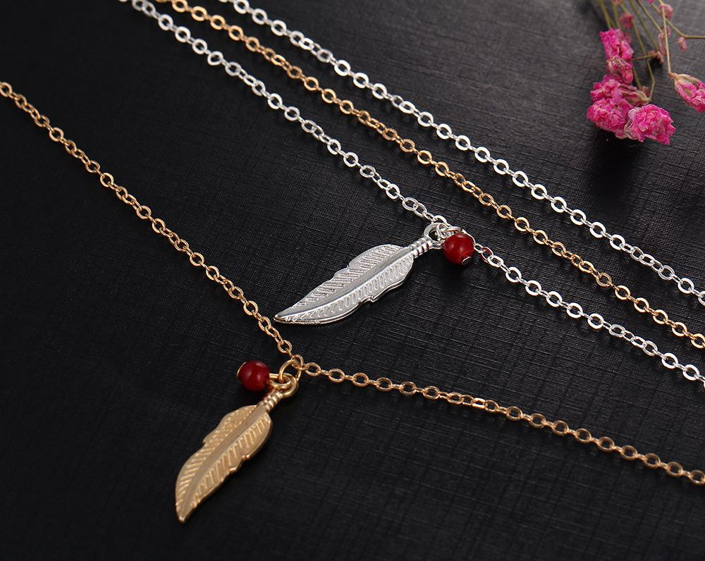 Simple Ethnic Foot Chain Ankle Bracelet Fashion Feather Anklet Halhal Braclet Jewelry Beach Pulseras Tobilleras Mujer