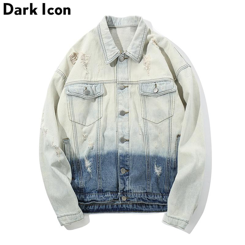 Gradient Denim Jackets Men 2018 Autumn Ripped Jeans Jacket Hip Hop Jackets  Mens Streetwear Male Clothing Clear Jackets Young Mens Jackets From  Bigseaa 2322e77886a