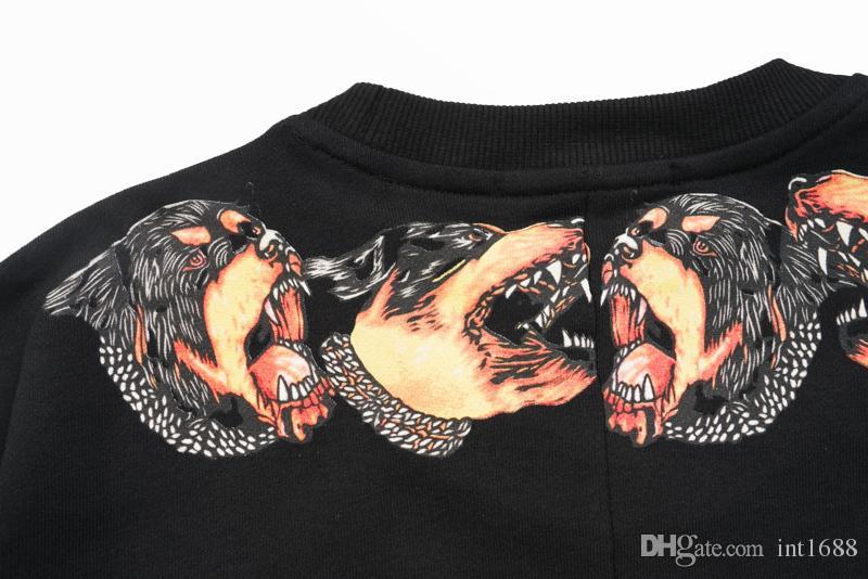 2018 جديد أزياء ماركة الساخن بيع الرجال هوديس عارضة الرياضة طويلة الأكمام البلوز الرجال العنق الكلب الطباعة السترة معطف سترة