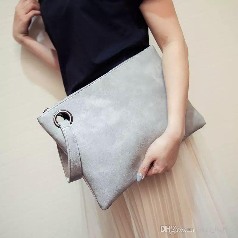 af49fd861b9e Brand Designer Free Shiing Fashion Women Bag Women S Solid Leather Bag  Female Ladies Clutch Handbag Evening Bag Women Messenger Bags Ladies Bags  Leather ...