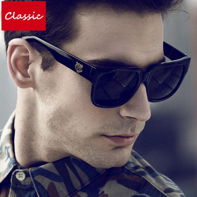 8a575e0ae4b7e Compre Alta Qualidade Quadrado Óculos De Sol Para Homens UV400 Masculino  Óculos De Sol Dos Homens Designer De Marca 2018 Novo Oculos Shades Masculino  ...