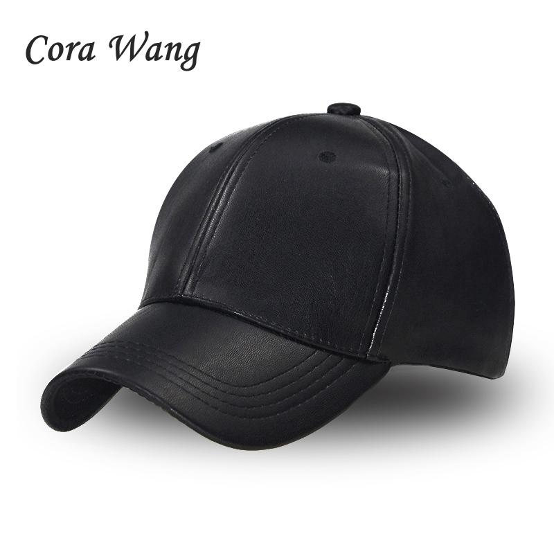 2018 Unisex Solid Baseball Cap PU Leather Adjustable HIP HOP Snapback Caps  Hats For Men Women Baseball Caps Sun Hat Black Baby Cap Embroidered Hats  From ... 97fe03fcc6c