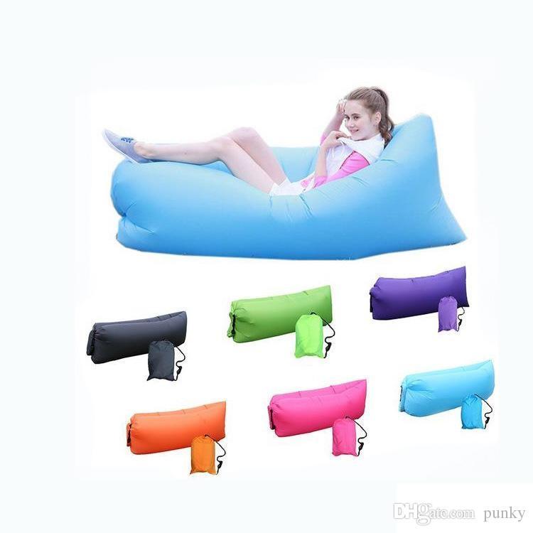 Salonu Uyku Tulumu Tembel Şişme Beanbag Kanepe Sandalye Oturma Odası Fasulye Torbası Yastık Açık Öz Şişirilmiş Beanbag Mobilya 100 Adet