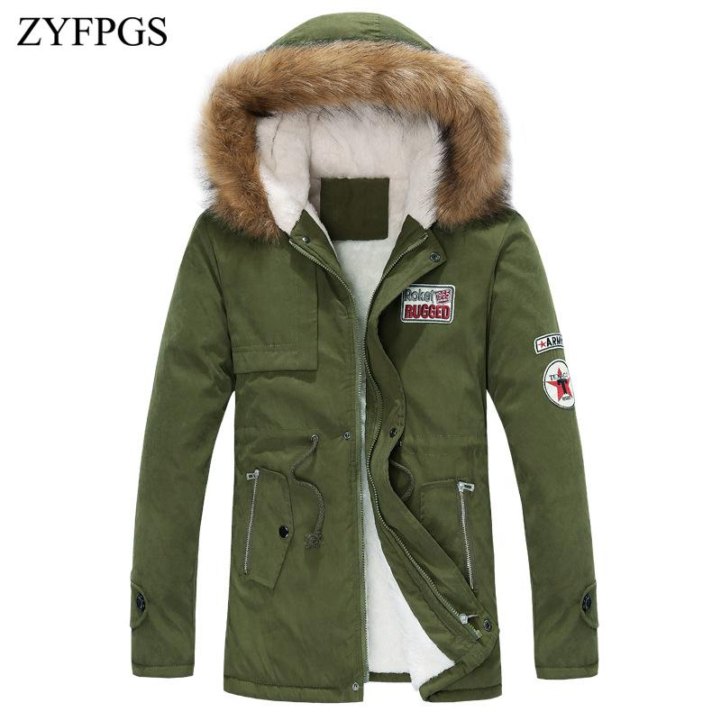 a7cfff92246a6 ZYFPGS Autumn  Winter Coat Thick Warm Jacket Plus Size New Men s ...