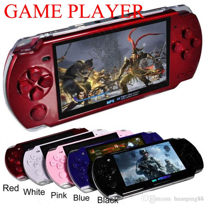 PMP 4GB 8GB handheld Game Console 4 3 inch screen mp4 player MP5 game  player real 8GB support for psp game,camera,video,e-book NEW 50X