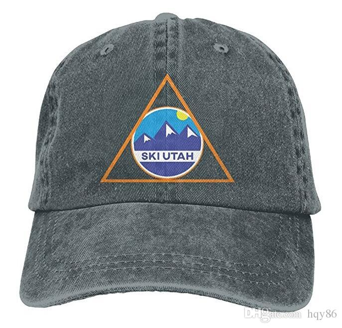 b925ae1cba1 Ski Utah Skiing In Triangle Skiing Lover Classic Unisex Baseball Cap  Adjustable Washed Dyed Cotton Ball Hat Multi Color Optional Cap Store  Custom Fitted ...