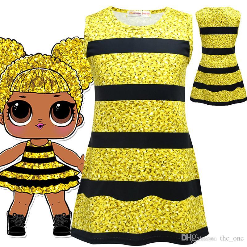 59ff03175604 2018 New Styles Kids Surprise Summer Dress Cute Children Lotus Leaf ...