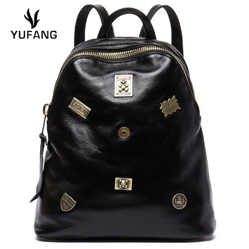 ea1931d597fa YUFANG Female Backpack Genuine Leather Travel Bag Women Fashion Style  School Bag Laptop Brand Tendy Backpack Ladies Backpacks For College  Backpacks For Kids ...