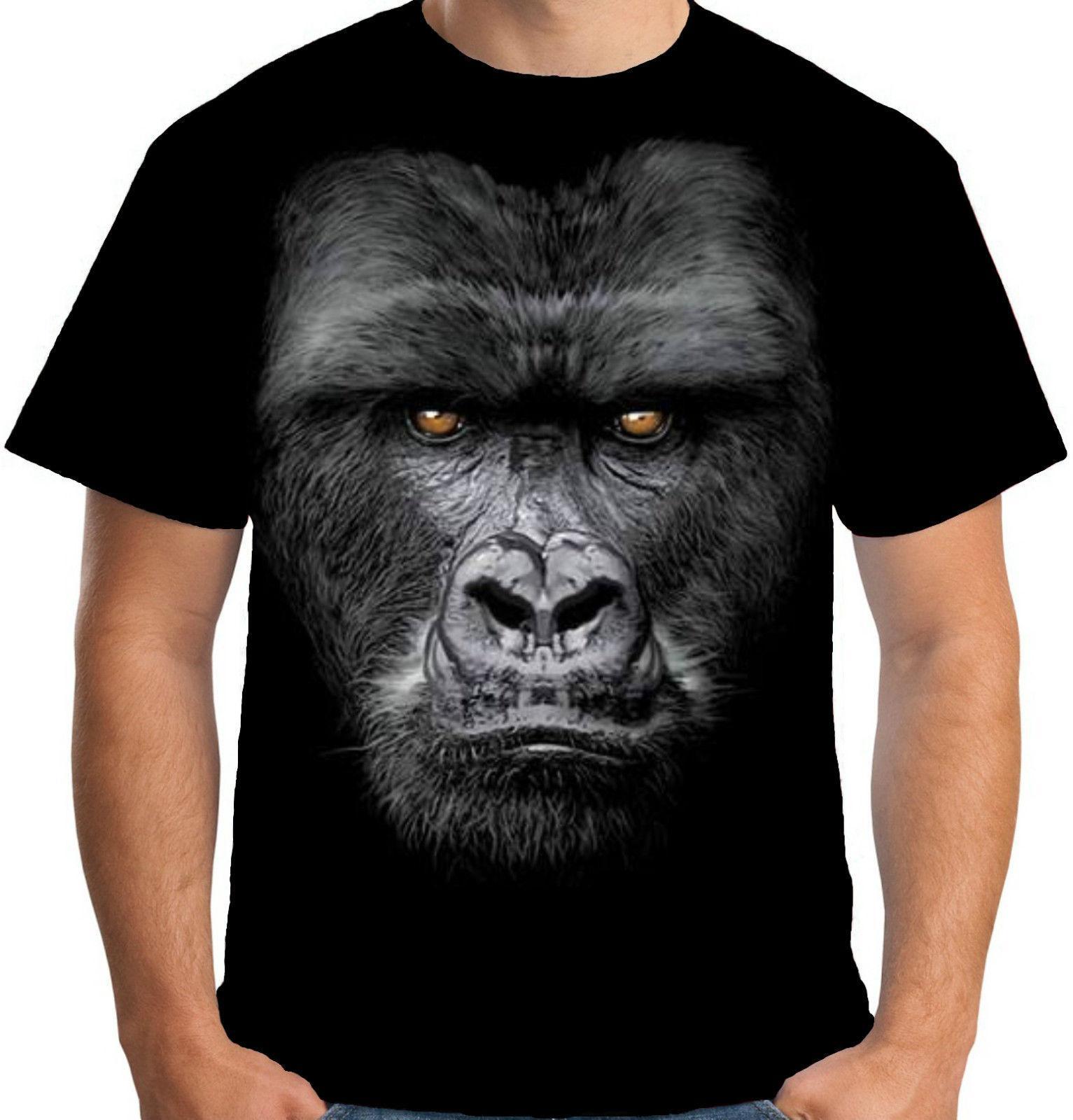 Gorilla Face T-SHIRT NEW Fun Animal Face BIG Ape Tee Shirts T-Shirts