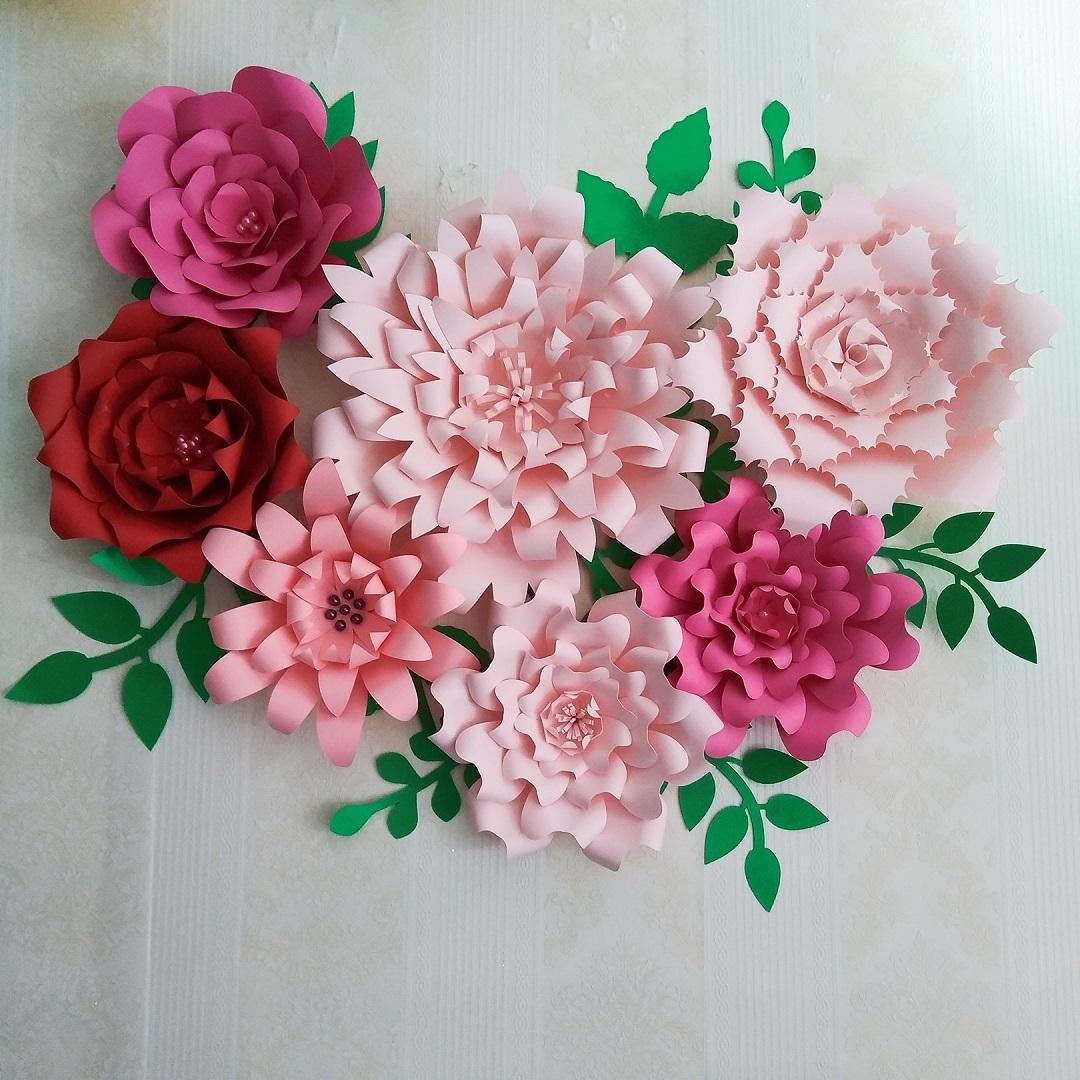 2019 2018 Large Giant Paper Flowers Half Made Paper Flower Full Kits