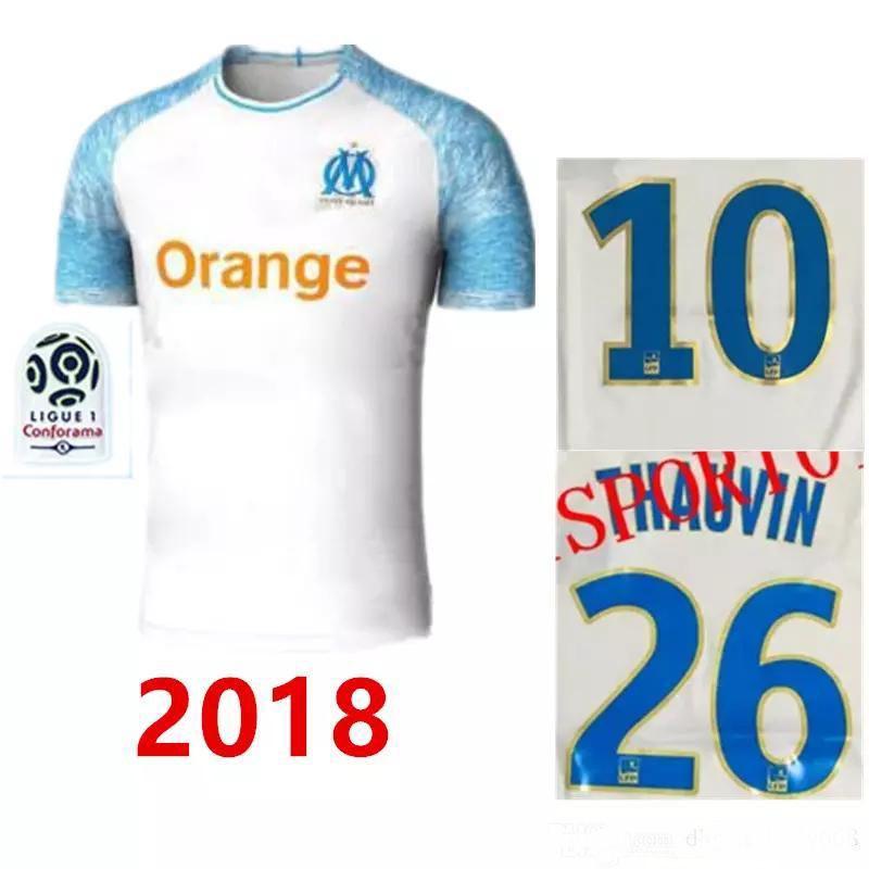 Top Thai 18 19 Olympique De Marseille Soccer Jersey 2018 2019 ... e501a94cfc6c1