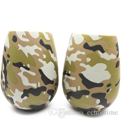 New 12 Designs Silicone Wine Glasses Camouflage Lip Bohemia National Skull Bubble Water Bottle Outdoor Cups Beer Whiskey Glass Drinkware