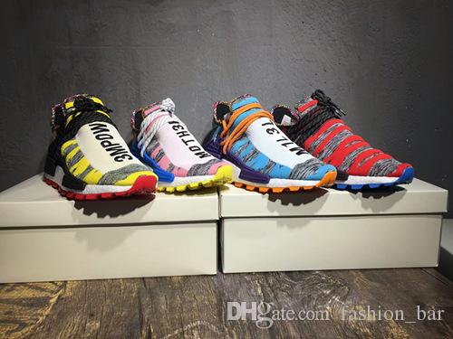 Human race Pharrell Hu Solar Pack Afro Pack running shoes top quality Pharrell Williams trainer Sneakers free shipping with box