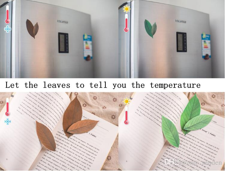 Unique Design Leaf Raumthermometer Thermometer Decorative Wall Decal Leaves Wall Stickers For Kids Rooms Decoration leaf termometer toy gift