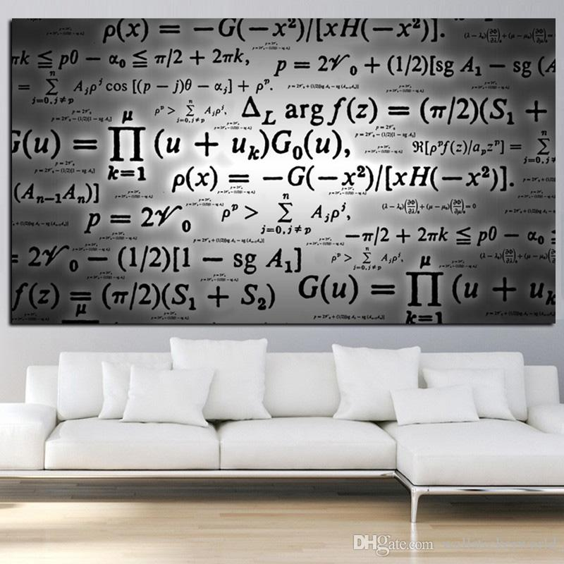 1 Piece Science Albert Einstein Formula Mathematics Digital Painting On Canvas Art Wall Painting Picture No Framed