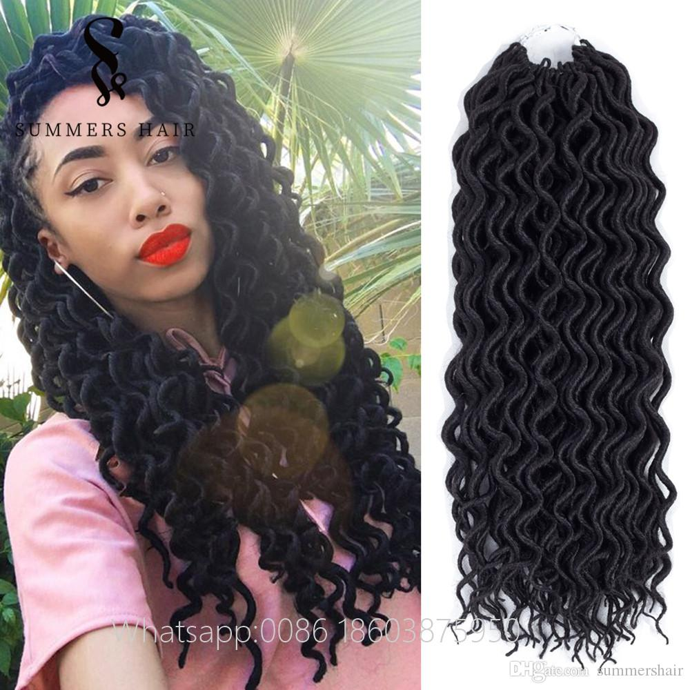 2018 Synthetic Hair Extensions 18 Crochet Faux Locs Braiding Hair