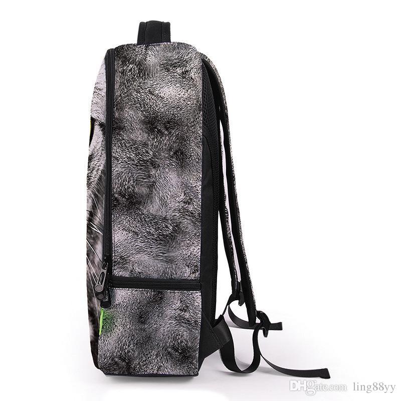 الجملة 3d الحيوان الأسد / ليوبارد طباعة عودة الرجال النساء الرياضة للماء mochilas الطلاب حقيبة مدرسية للبنات بنين السفر