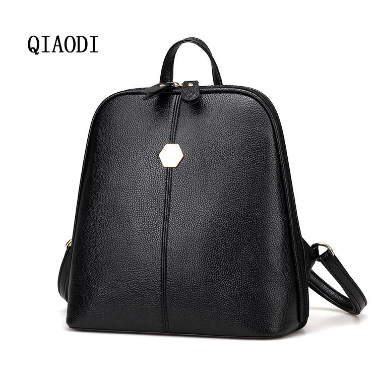 QIAODI Brand Women PU Leather Mini Backpack For Girls Fashion Casual Female  Travel Bags Cute Shoulder Bags School Backpacks Pink Backpacks Daypack From  ... a1d266f5f4ee7