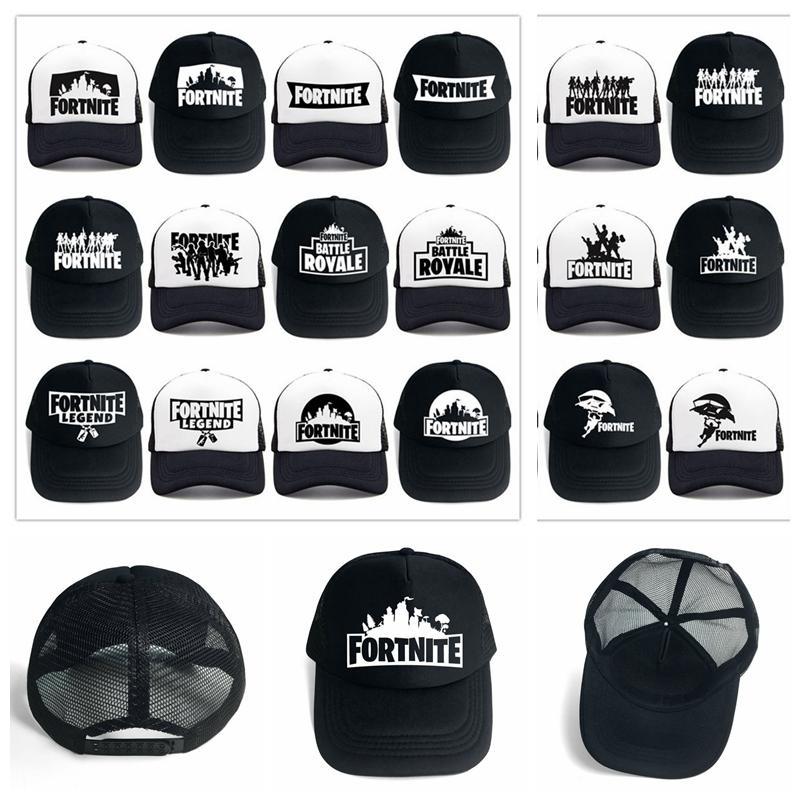 845ddb30c 24 style Fortnite man baseball cap male snapback summer Breathable hats man  hip hop hat for women funny Quick drying caps 300pcs
