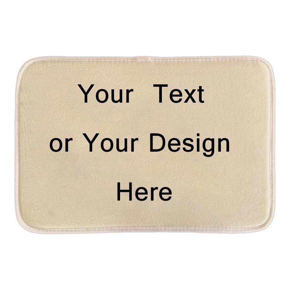 Custom Door Mats Print Your Text Or Design Personalize Decorative Door Mats  For Bathroom Livingroom Large Outdoor Pillows Outside Furniture Cushions  From ...