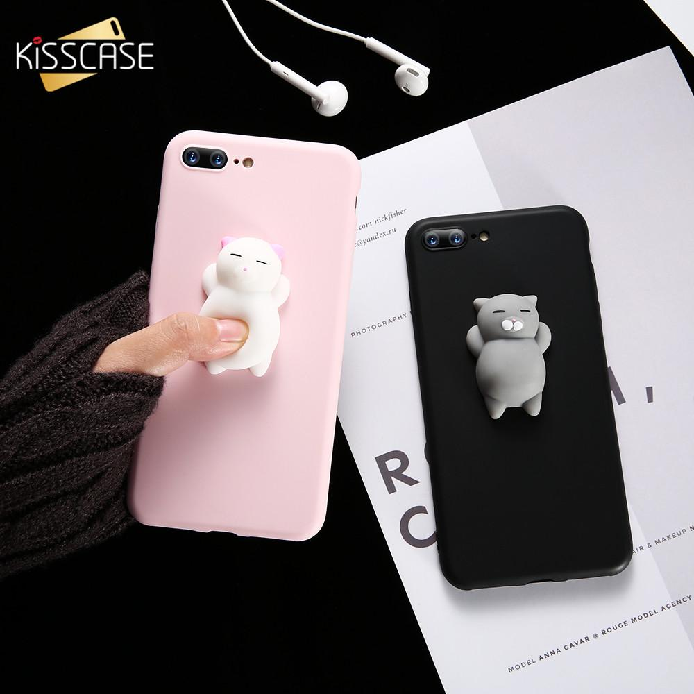 ea9eb21cb06 Fundas Moviles Funda Para IPhone 5s 5 SE 7 7 Plus 6 6s Plus Funda Cute  Silicon Cartoon Cat Cases Para IPhone 7 6 6s 5S Funda Fundas De Movil Por  Aqiqi5173, ...