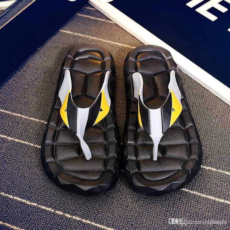 a51f3d5a1129 Flip Flops Men Sandals Shoes For Casual Walking Beach Slides EVA Massage  Slippers Designer Flats Male Summer Mens Shoes Wedges Shoes Leather Boots  From ...