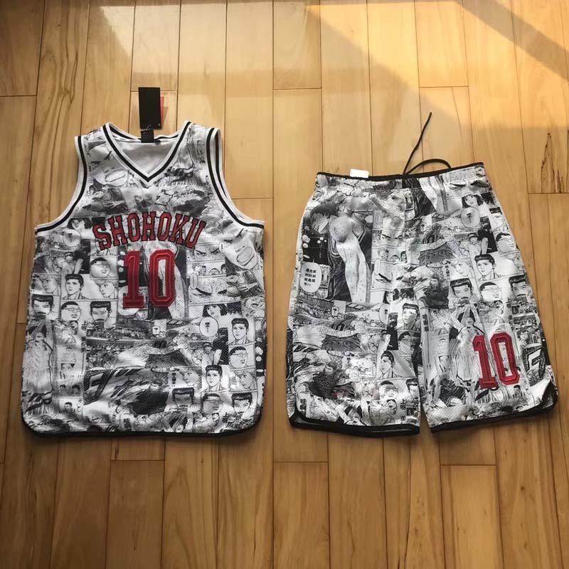 a16149988a4a Luxury Comics Basketball Vest Shorts Sportswear Player Casual Sport ...