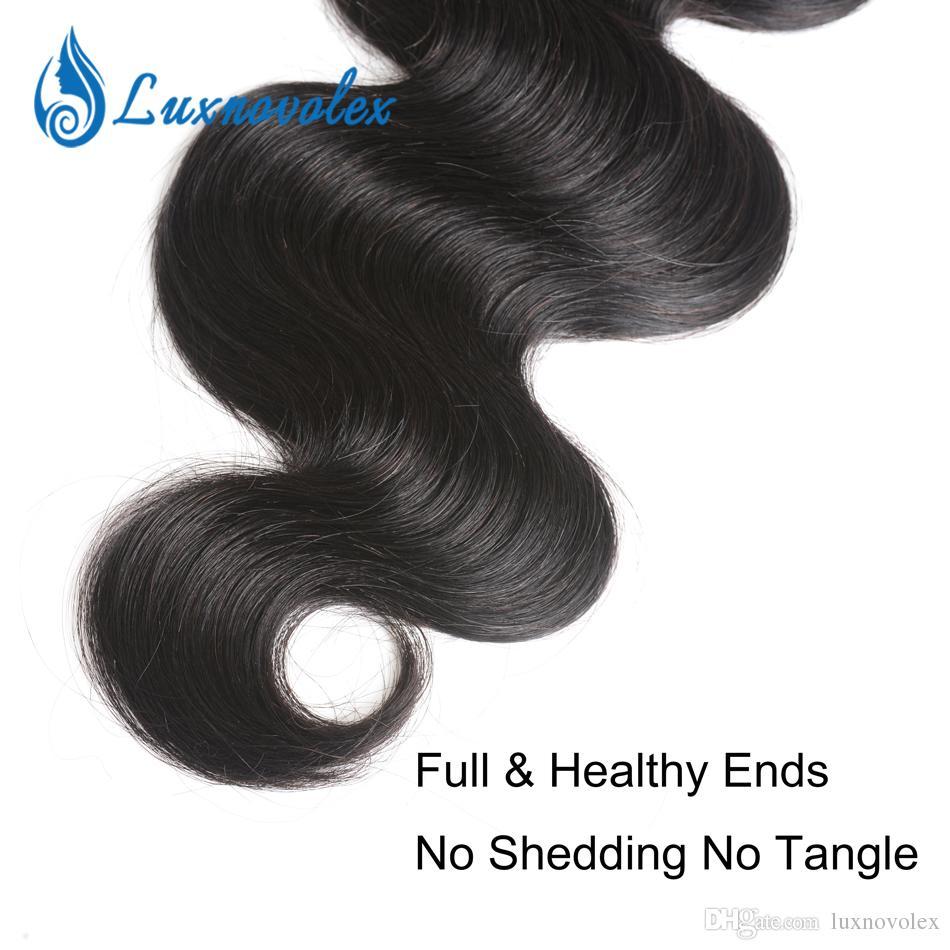 Virgin corpo do cabelo brasileiro Wave 3 4 Pacotes não processado brasileiro extensões do cabelo tramas do cabelo do corpo humano natural da onda colorida de Preços por Atacado