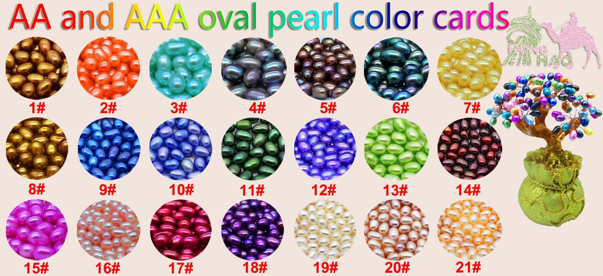 Oval Oyster Pearl 2018 New 6-8mm 3 Stesso colore naturale perla d'acqua dolce regalo, confezione sciolto decorazione sottovuoto spedizione gratuita
