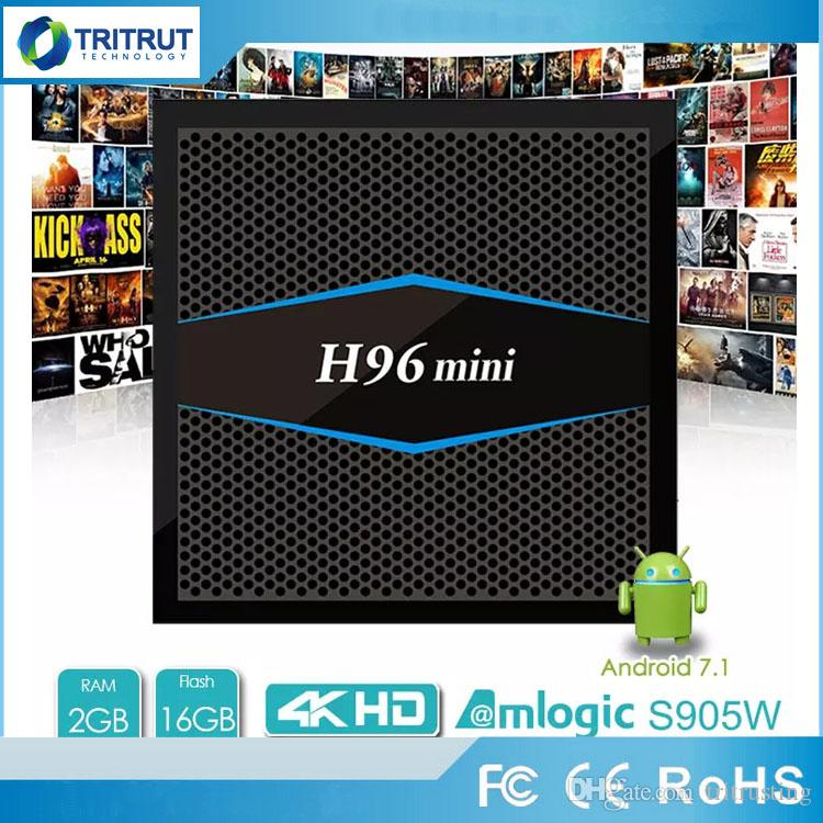 H96 mini Cheapest 2GB 16GB Dual AC WiFI TV BOX H96mini Android 7.1 Smart TV Box Bluetooth Amligic S905W TV Box 4K Media Player MQ10
