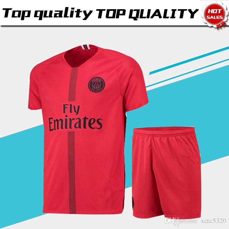 Compre Nuevo Logo PSG Liga De Campeones Portero De Fútbol Jersey Con  Pantalones Cortos 18 19 PSG GARDIEN Camisetas De Fútbol   1 BUFFON   16  AREOLA Trajes ... 7eb866f04e36c