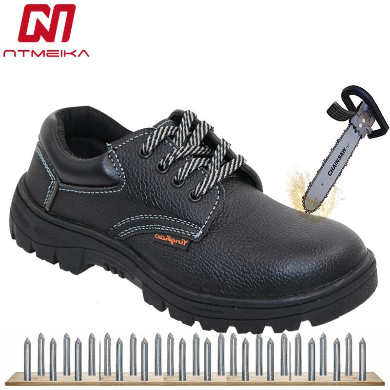 best sneakers 673de 7886e Günstige Männer Arbeitssicherheit Schuhe Stahlkappe PU Leder Breathable  Beiläufige Sicherheit Stiefel Toe Arbeit Stiefel Männer Job Related ...