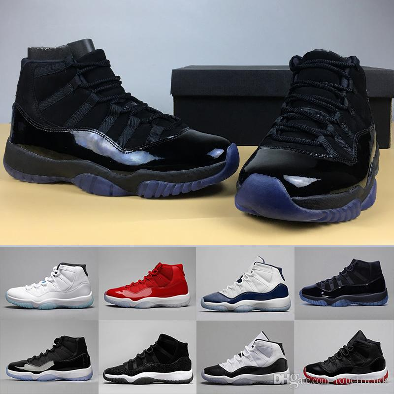 11 Men Basketball Shoes XI Blackout Women Prom Night Gym Red Midnight Navy  PRM Heiress Barons Closing Concord Bred University Blue Jordans Running  Shoes ... c9a8965f03