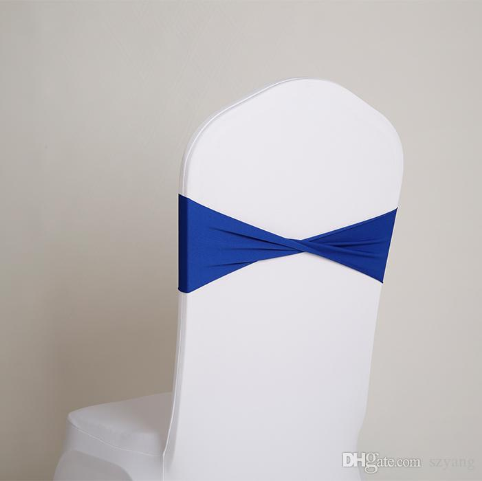 Hot sale spandex sashes lycra sash for chair cover spandex bands bow tie For Wedding Decoration banquet design SN1525