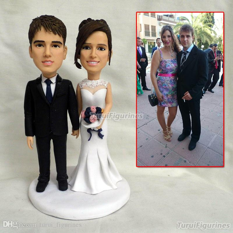 Gifts For Wedding Bride Groom Cake Topper Customized With Pets Funny