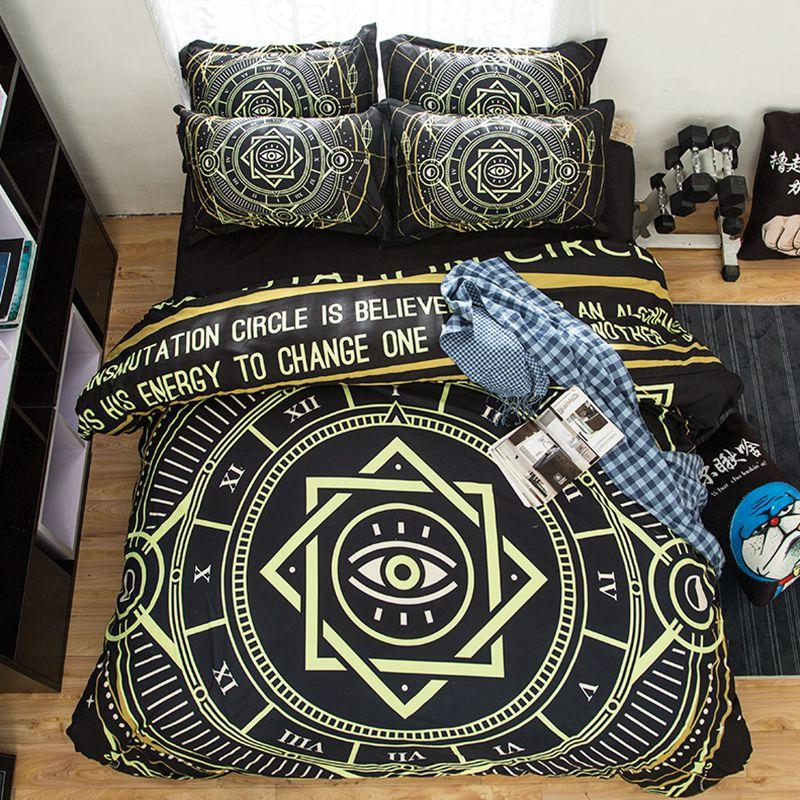 Home Textile Punk Rock Bedding Hippie Boho Geometry Magic Array