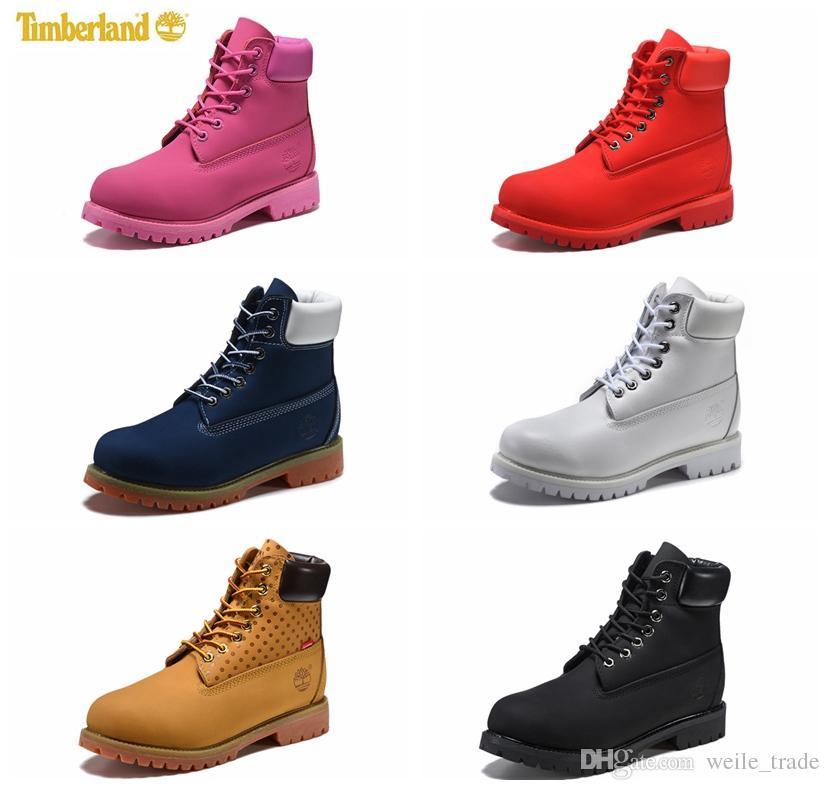 b6b95405 Compre 2018 Original Mens Diseñador Botas De Cuero Rojo Marrón Retro  Exterior Zapatos De Invierno Mujer Casual Lujo Marca Botas Cdg Zapatos  Chausseures A ...