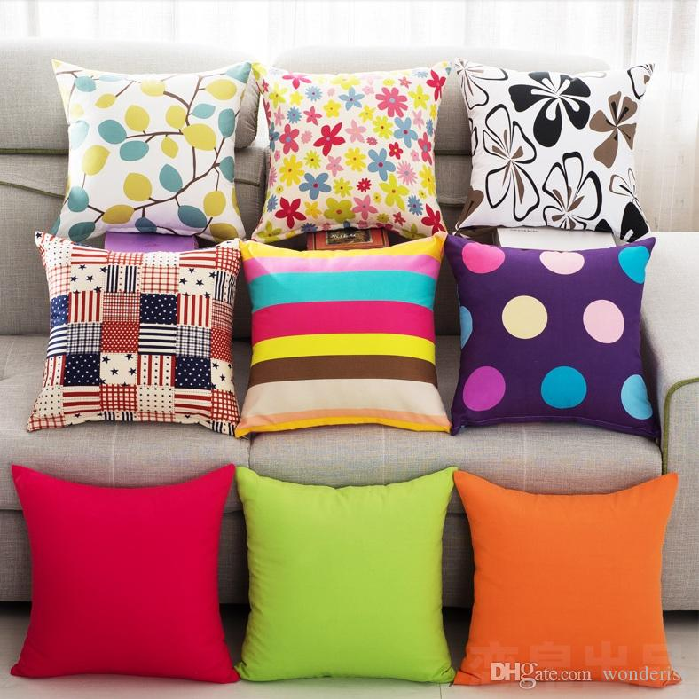 22 Styles Solid Color Sofa Cushion Covers Pure Candy Color Orange Flower  Leaves Cushion Cover Bedroom Decorative Throw Pillow Case Replacement  Cushions For ...