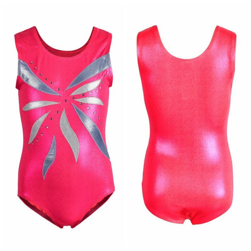 f297fd2d6 2019 EFINNY Girls Ballet Pink Petal Dress Dance Wear Sleeveless ...