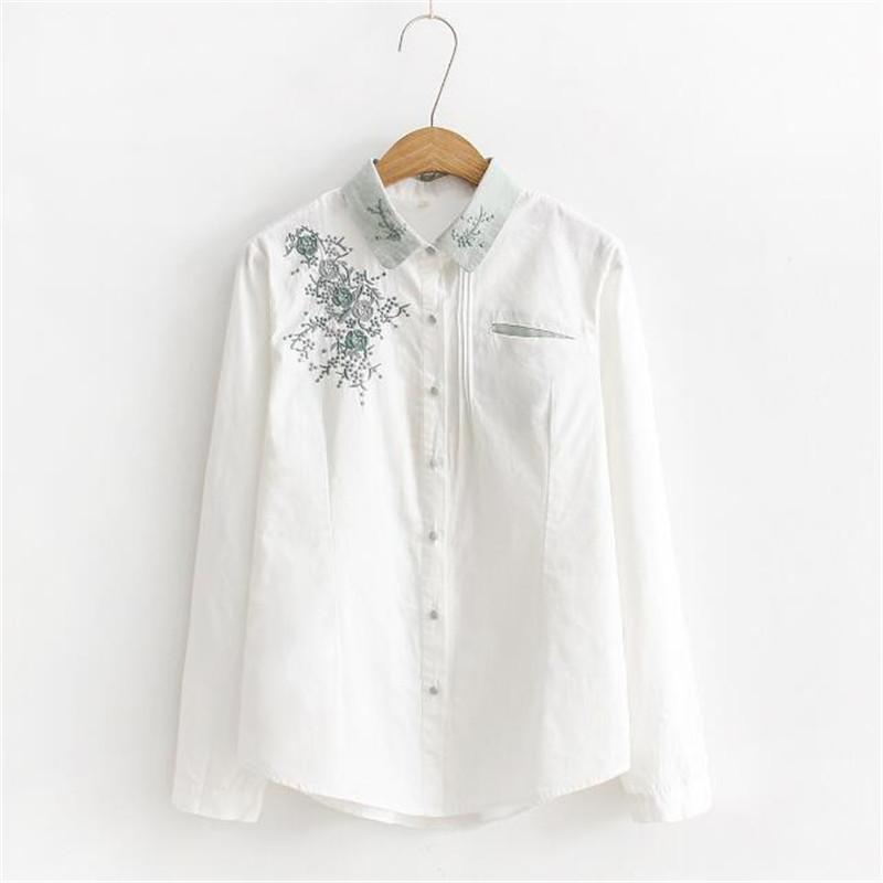 2018 2018 new flower embroidery blouse women casual cotton white 2018 2018 new flower embroidery blouse women casual cotton white blouse shirt fashion long sleeve loose women tops zy3964 from pulchritude 2125 dhgate mightylinksfo