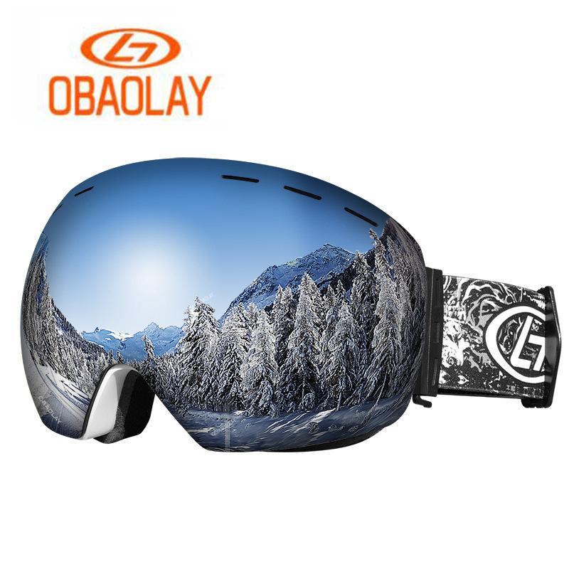 996978aaf006 2019 OBAOLAY Double Layers Ski Goggles Rimless UV400 Anti Fog Snowboard  Goggles Windproof Skiing Protective Eyewear From Cbaoyu
