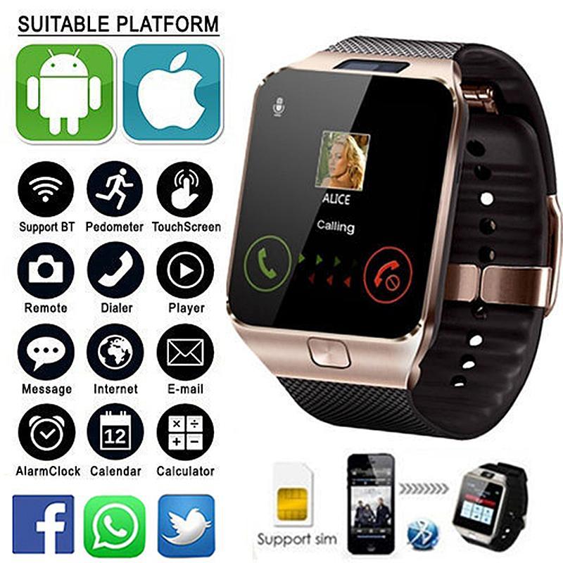9bf2a3b38 2018 Hot Smartwatch Intelligent Digital Sport Pedometer DZ09 Smart Watch  For Phone Android Wrist Watch Men Women S Satti Watches Discount Discount  Designer ...